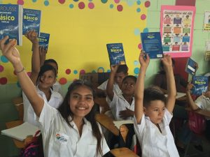 Children at the Chedrani School Excited to Receive their New Dictionaries